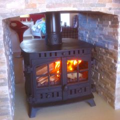 Hunter Herald Double front stove installation
